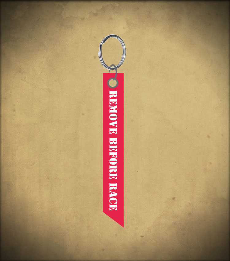 Accessories  Remove Before Racing Keyring 79bd497b3e33